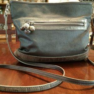 Brighton women's handbag purse gray